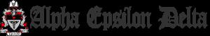 Alpha Epsilon Delta-web-logo